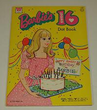 Vintage Whitman 1974 BARBIE SWEET 16 Coloring Book UNUSED Uncolored