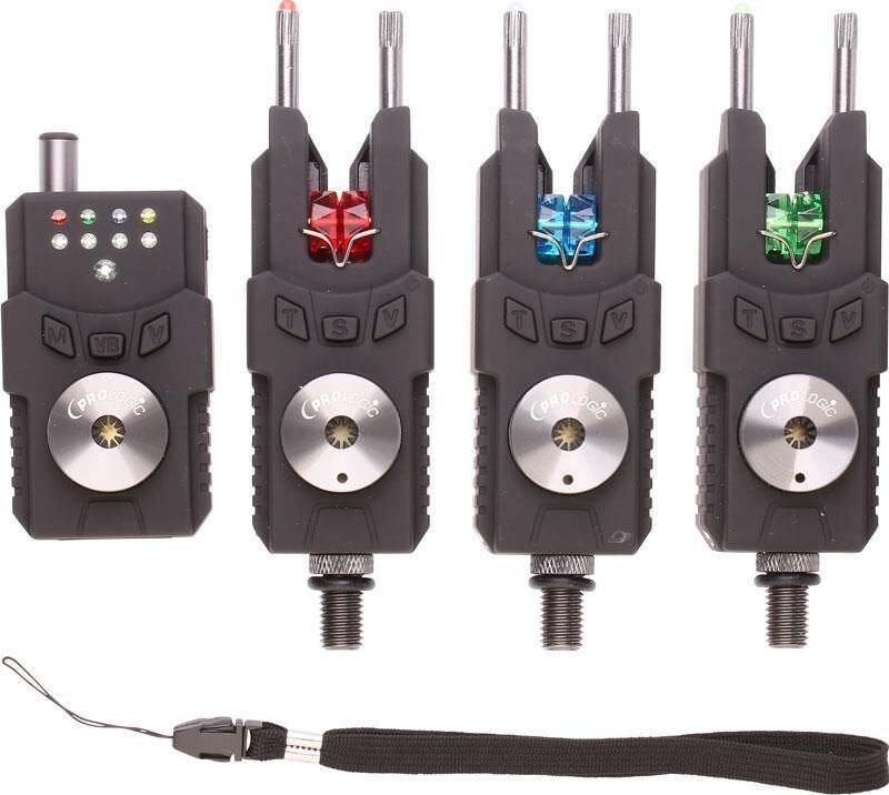 Prologic SMX Bite Alarms 3 Rod Set 3+1 + Receiver NEW Multi Colour Carp Fishing