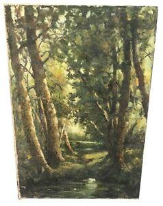 VOLODIA-LAZAREV-RUSSIAN-B-1904-TREE-LANDSCAPE-OIL-ON-CANVAS