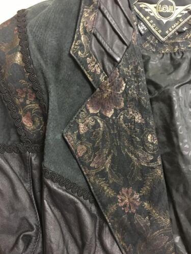 Nizza multicolore Iou in in donna pelle rifiniture Giacca Paisley decorative scamosciata media da COq17x