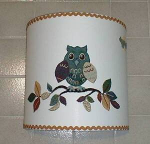 PARALUME-GUFO-STOFFA-LAMPSHADE-OWL-ABAT-JOUR-TISSU-HIBOU-COLLEZIONE-COLLECTION