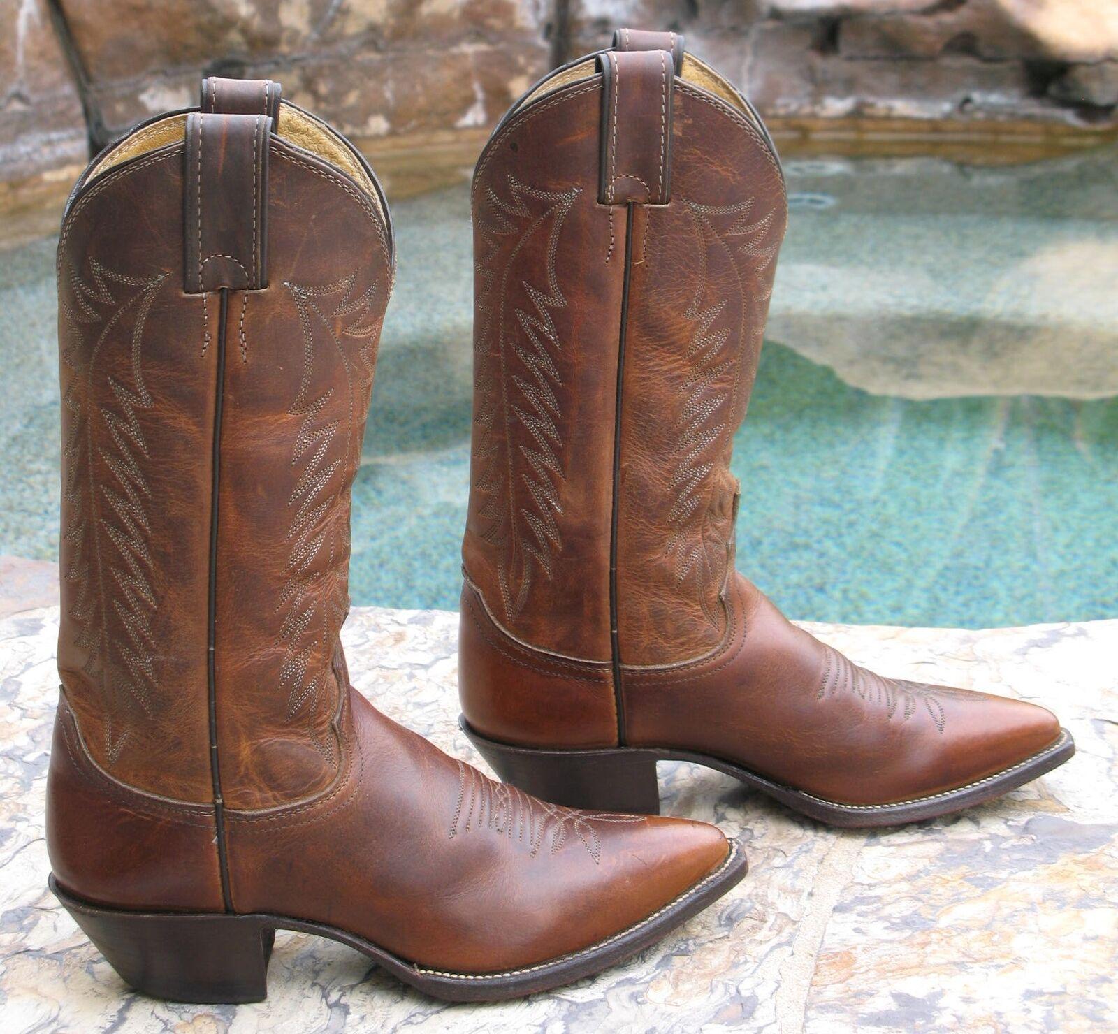 Justin Botas Mujer Cowboy Del Oeste Botas Justin B Bay Apache Marrón 4bf210