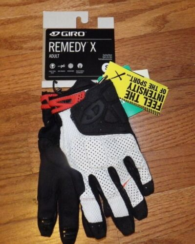 New S Giro Remedy X Bike Cycling Gloves Full Finger White//Blk Small