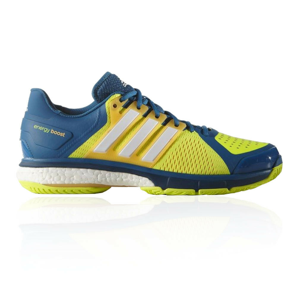 adidas Mens Energy Boost 3 Tennis Shoes Blue Yellow Sports Trainers Lightweight