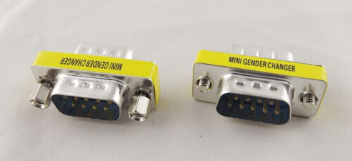 Mini Gender Changer Convertor DB9 RS232 9 Pin Male To Male M//M Adapter Connector