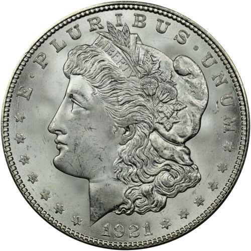 BU 1921-D Morgan Silver Dollar Brilliant Uncirculated