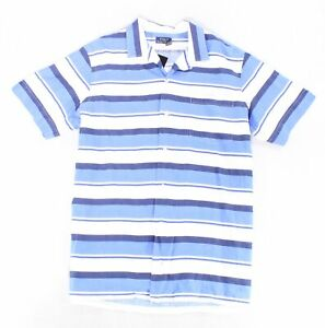 Polo-Ralph-Lauren-Mens-Shirt-Blue-Size-Medium-M-Button-Down-Striped-125-388