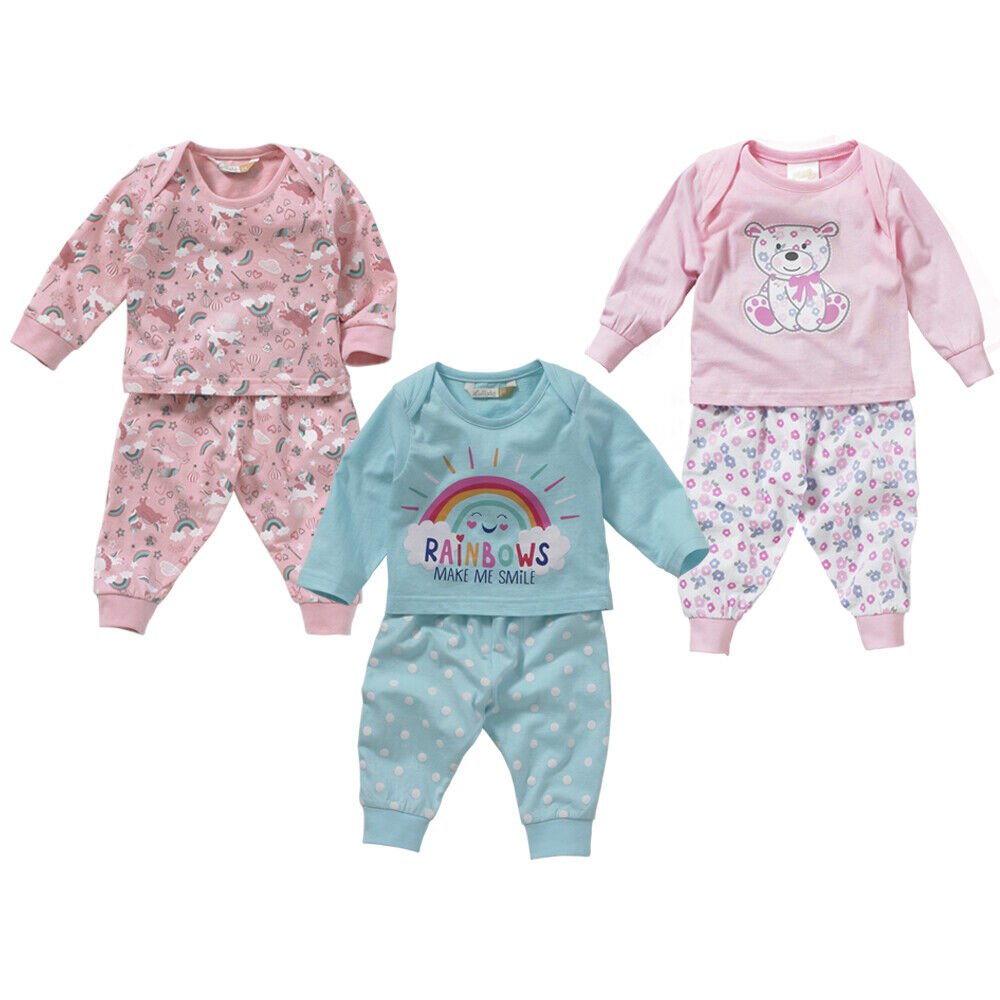 69a4a879d Lullaby Baby Girls Floral Teddy Bear Pyjamas for sale online