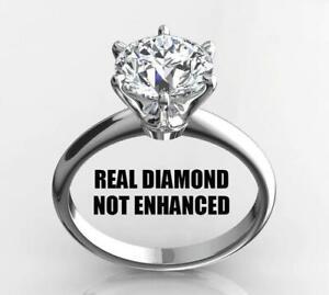1/3 Ct Natural Diamond Round Cut 14k White Gold Engagement Ring