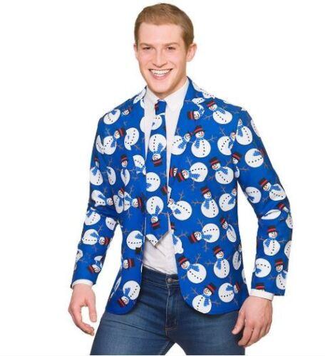 NEW Fun Christmas Snowman Jacket /& Tie Fancy Dress Party Outfit Snowman