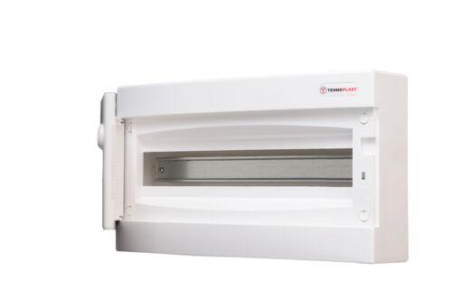 Sicherungskasten Aufputz IP40 Feuchtraum Verteiler Gehäuse mit weißer Tür
