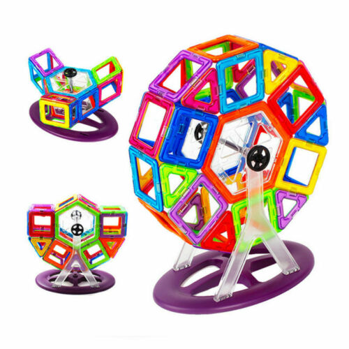 141pcs Kids DIY 3D Magnetic Blocks Multicolors Construction Building Toy Puzzles