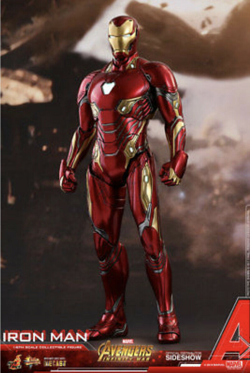 Hot Toys Avengers Infinity War 1 6 Iron Iron Man Mark L 50  Diecast In stock Sealed