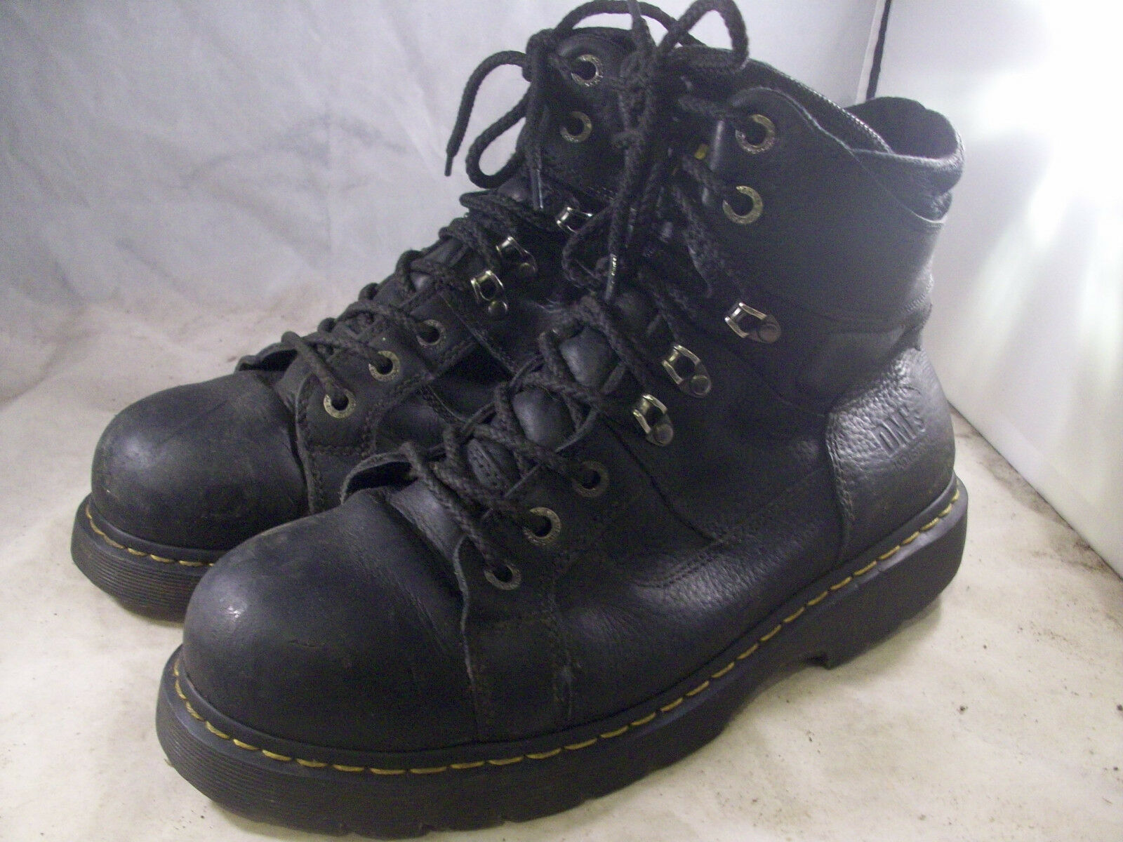DR. DR. DR. MARTENS herren IRONBRIDGE STEEL TOE Stiefel schwarz LEATHER 13 MEDIUM  135 d92619