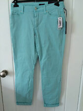 NYDJ Ankle Aqua Fine Line Twill Jeans, UK 8