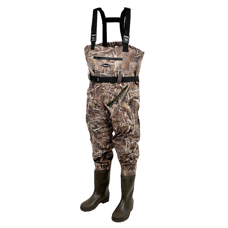 Prologic NEW Fishing Max5 Nylo-Stretch Chest Waders With Cleated Soles All Größes