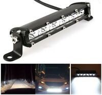 1x Slim 7inch 18W CREE LED Single Row Work Light Bar Spot OFFROAD DRIVING LAMP