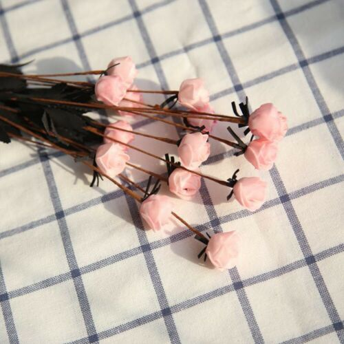 Artificial PE Mini Roses Small Fake Flowers Wedding Home Party Decor