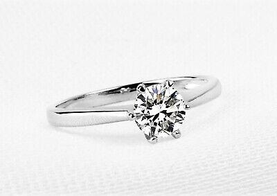 79e098c37 Details about Classic 0.5CT Diamond Solitaire Engagement Ring Platinum PT950  Finish Size 5 -12