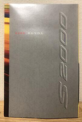 Mint Automobile Memorabilia Vintage 2000 Honda S2000 Dealers Sales Brochure