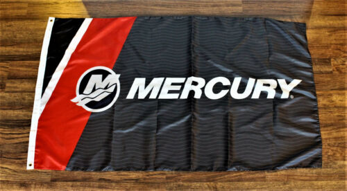 Mercury Engines Banner Flag Boat Racing Boating Advertising Marina Yacht New