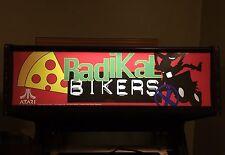 Radikal Bikers Arcade Marquee Midway Translight Header Sign Backlit