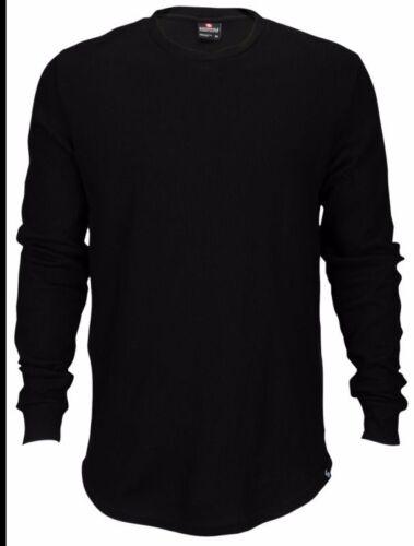 Men SOUTHPOLE Black Grey long sleeve thermal T-shirt w side zipper 16327-1360