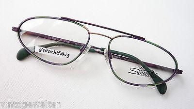Silhouette Schmale Pilot Brille Flexbügel Metall Fassungen Grün-lila Grösse L Lassen Sie Unsere Waren In Die Welt Gehen