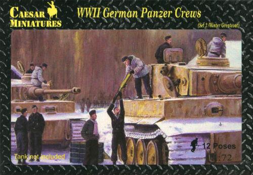 HB05 WWII German Panzer Crews Set 2 Winter//Greatcoat CAESAR MINIATURES 1//72