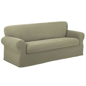 Image Is Loading Maytex Stretch Reeve Sofa Or Loveseat Slipcovers 2pcs