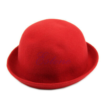 Vogue Fashion Womens Lady Vintage Cute Trendy Wool Solid Bowler Derby Hat