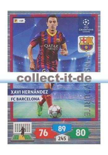 Panini Adrenalyn XL Champions League 13//14-293 Xavi Hernandez FANS FAVOURITE