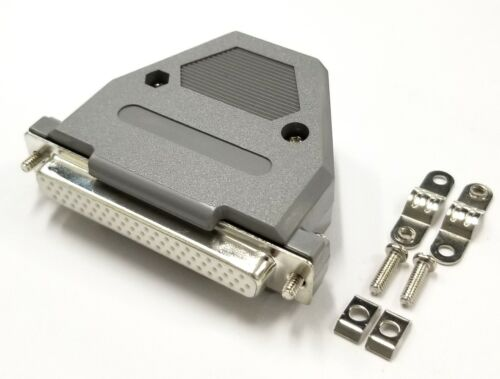 HD 62 Pin Female D-Sub Cable Mount Connector w// Plastic Cover /& Hardware DB62
