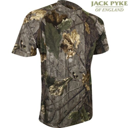 JACK PYKE QUICK WICK T-SHIRT MENS S-3XL ENGLISH OAK EVO CAMO FAST WICKING MESH