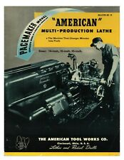 1946 American Tool Works Multi Production Lathe Radials Shapers Brochure 19