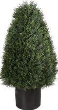 """30"""" Artificial Outdoor Cypress Cedar Cone UV Topiary Bush Tree 2' 6"""" Patio Porch"""