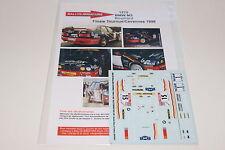 DECALS 1/43 BMW M3 E30 ROUILLARD RALLYE FINALE TOURNUS 1998 WRC RALLY