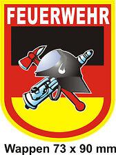 Feuerwehr Patch -Textil - Kaputzenjacken - Polo Aufbügler allgemeines Fw-Wappen