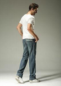 d6ec16d7 Men's Clothing FOX JEANS Men's Monroe Regular Fit Straight Blue Denim Mens  Cargo Jeans SIZE 38