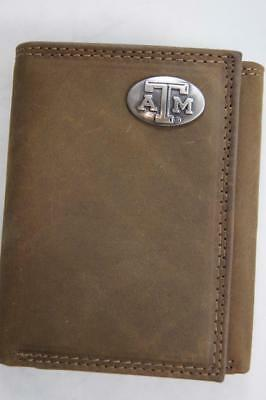 ZEP-PRO Texas A/&M Aggies Trifold Leather /& Waxed Canvas Wallet TIN BOX
