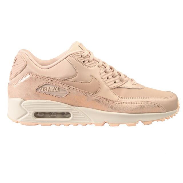 10 Women's Nike Air Max 90 PRM Particle Beige Shine Glitter Bronze 896497 201