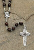 19.5l Pope Francis Rosary Wood Bead; Papal Cross By Roman, New, Free Shipping on sale