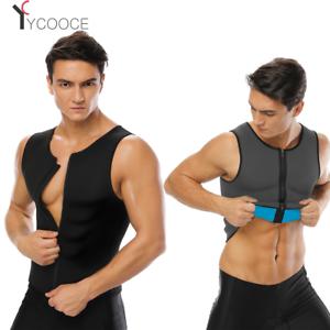 3d41828bba Men s Zipper Slimming Waist Trainer Vest Hot Neoprene Corset Body ...