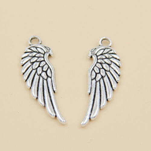 wholesale 18//60Pcs Silver Plated Feathers Pendant 34x11.5mm (Lead-Free)