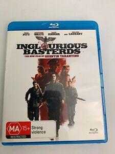Inglourious-Basterds-Blu-ray-2009-Movie-VGC-Quentin-Tarantino-MA15-Pitt