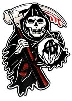 Motorcycle Back Patch Grim Reaper Sons Of Anarchy Huge 13 X 9 Embroidered
