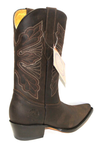 Calf Women Boots Real Western Boot Cowboy Leather Brown Toe Grinders Dallas  Mid Rwfqzwg cae826b5e
