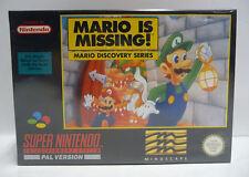 MARIO IS MISSING!  --  SNES SUPER NINTENDO PAL - BOXED