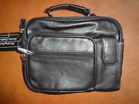Black Shoulder Bag Handcrafted Leather Removable Adjustable Strap