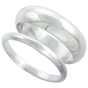 Sterling-Silver-Plain-Band-Comfort-Fit-Ring-Solid-925